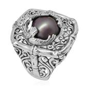 Bali Legacy Collection Pink Mabe Pearl Sterling Silver Ring (Size 6.0)