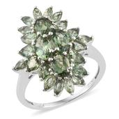 Forte Dauphin Apatite Platinum Over Sterling Silver Ring (Size 6.0) TGW 4.30 cts.
