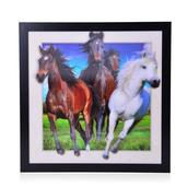 3D Horse Print Picture in Frame (16.5x16.5x0.5 in)