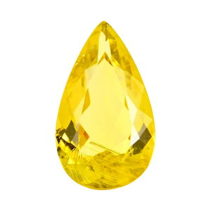 IGI Certified Canary Tourmaline Faceted (Pear 12.18x7.24 4A) TGW 2.67 cts.