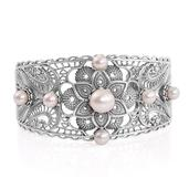 Freshwater Pearl Sterling Silver Cuff (7.50 in) TGW 17.550 Cts.