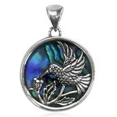 Bali Legacy Collection Abalone Shell Sterling Silver Hummingbird Pendant without Chain