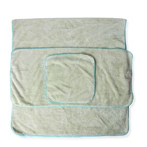 Light Green 80% Polyester and 20% Nylon Towel Set (1 Body,1 Hand, and 1 Face Towel)