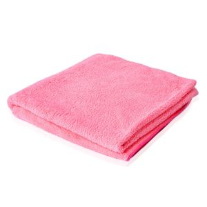 Pink 80% Polyester and 20% Nylon Towel Set (1 Body,1 Hand, and 1 Face Towel)
