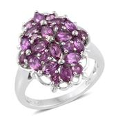 Mahenge Umbalite Platinum Over Sterling Silver Ring (Size 5.0) TGW 4.12 cts.