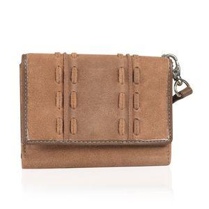 Cognac 100% Genuine Leather RFID Wallet (5.25x1.25x4.25 in)