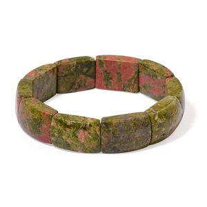 Unakite Bracelet (Stretchable) (6.00 In) TGW 256.50 cts.