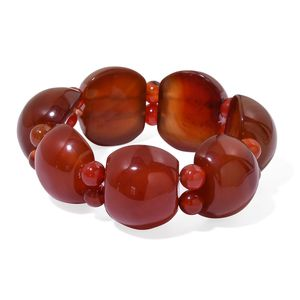 Red Agate Bracelet (Stretchable) TGW 595.00 cts.