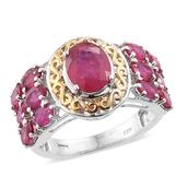 Kevin's Presidential Deal Niassa Ruby 14K YG and Platinum Over Sterling Silver Ring (Size 10.0) TGW 6.98 cts.