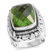 Bali Legacy Collection Chartreuse Quartz Sterling Silver Ring (Size 8.0) TGW 11.32 cts.