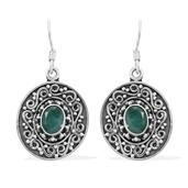 Artisan Crafted Sakota Emerald Sterling Silver Earrings TGW 2.66 cts.