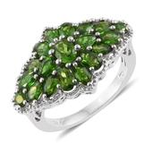Russian Diopside Platinum Over Sterling Silver Ring (Size 5.0) TGW 4.25 cts.