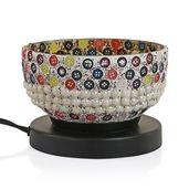 Himalyan Crystal Bowl Electric Mosaic Lamp with Rock Salt