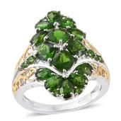 Russian Diopside 14K YG and Platinum Over Sterling Silver Ring (Size 5.0) TGW 5.17 cts.