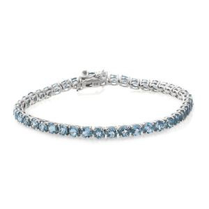 Marambaia Topaz Platinum Over Sterling Silver Bracelet (7.50 In) TGW 13.98 cts.