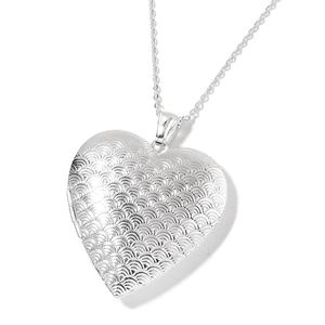 Stainless Steel Heart Locket Pendant With Chain (24 in)