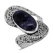 Bali Legacy Collection Utah Tiffany Stone Sterling Silver Ring (Size 7.0) TGW 7.15 cts.