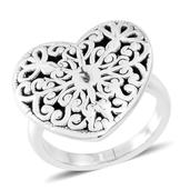 Sterling Silver Heart Ring (Size 6.0) (4.5 g)