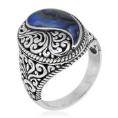 Bali Legacy Collection Sponge Coral Sterling Silver Ring (Size 10.0) TGW 12.00 cts.