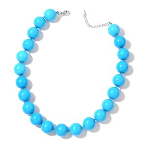 Howlite Silvertone Necklace (18 in) TGW 775.00 cts.