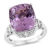 Tony's Collector Show 14K WG Kunzite, Diamond Ring (Size 7.0) TDiaWt 0.26 cts, TGW 13.81 cts.