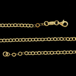 14K YG Over Sterling Silver Rolo Chain (24 in, 4.1 g)