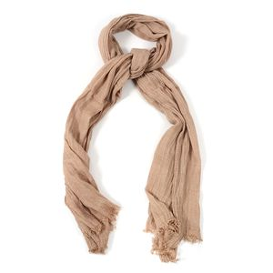 Tan 100% Polyester Ikat Pattern Scarf (80x36 in)
