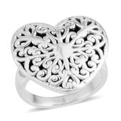 Sterling Silver Heart Ring (Size 9.5) (4.5 g)