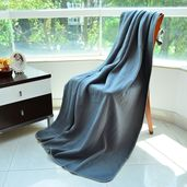 Dark Grey 100% Polyester Throws (51.18x66.92 in)