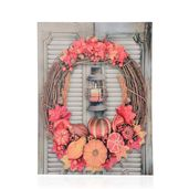 Garland Pattern Wall Art with LED Light & Canvas Print (16x12 in) (AA Battery Not Included)