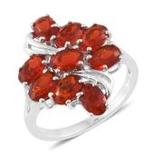 Crimson Fire Opal Platinum Over Sterling Silver Ring (Size 6.0) TGW 2.45 cts.