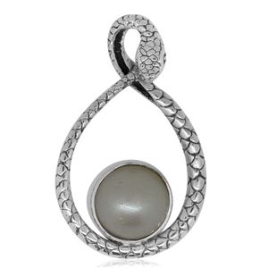 Bali Legacy Collection Mabe Pearl Sterling Silver Pendant without Chain