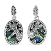 Bali Legacy Collection Abalone Shell Sterling Silver Dragonfly Earrings