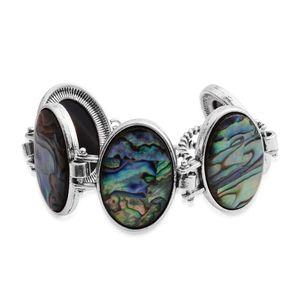 Abalone Shell Silvertone Bracelet (7.50 In) TGW 20.00 cts.