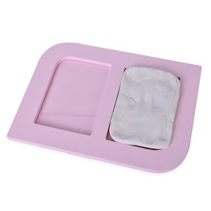 Pink Clay Baby Handprint and Footprint Keepsake Photo Frame Kit (9.76x7x0.47 in)