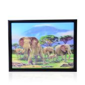 Elephant Family Printed 4D Painting (16.3x12.4 in)