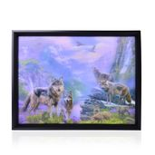 Wolf Family Printed 4D Painting (16.3x12.4 in)