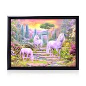 Horse Family Printed 4D Painting (16.3x12.4 in)