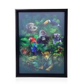 Animals Printed 4D Painting (16.3x12.4 in)
