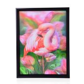 Flamingo Printed 4D Painting (16.3x12.4 in)
