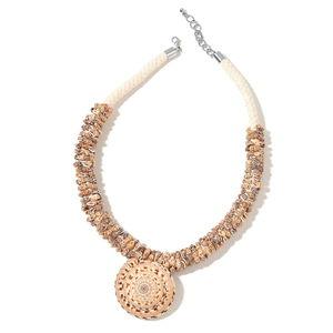 Snail Shell Silvertone Necklace (23 in)