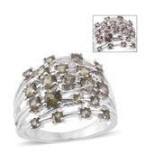 Bekily Color Change Garnet Platinum Over Sterling Silver Ring (Size 9.0) TGW 2.88 cts.