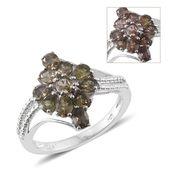 Bekily Color Change Garnet Platinum Over Sterling Silver Ring (Size 8.0) TGW 2.40 cts.