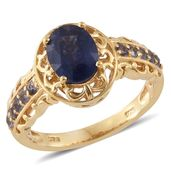 Masoala Sapphire, Catalina Iolite 14K YG Over Sterling Silver Ring (Size 6.0) TGW 3.16 cts.