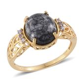 Austrian Pinolith, Tanzanite 14K YG Over Sterling Silver Ring (Size 6.0) TGW 5.24 cts.