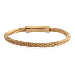 ION Plated YG Stainless Steel Bracelet (7.50 In)