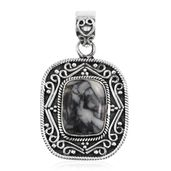 Artisan Crafted Austrian Pinolith Sterling Silver Pendant without Chain TGW 11.80 cts.