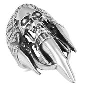Black Oxidized Stainless Steel Masculine Claw Ring (Size 13.0)