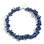Blue Iridescent Crystal Quartz Stainless Steel Necklace (18 in) TGW 621.50 cts.