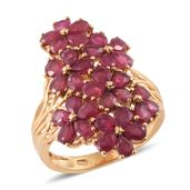 Nitin's Knockdown Deals Niassa Ruby 14K YG Over Sterling Silver Ring (Size 6.0) TGW 7.90 cts.